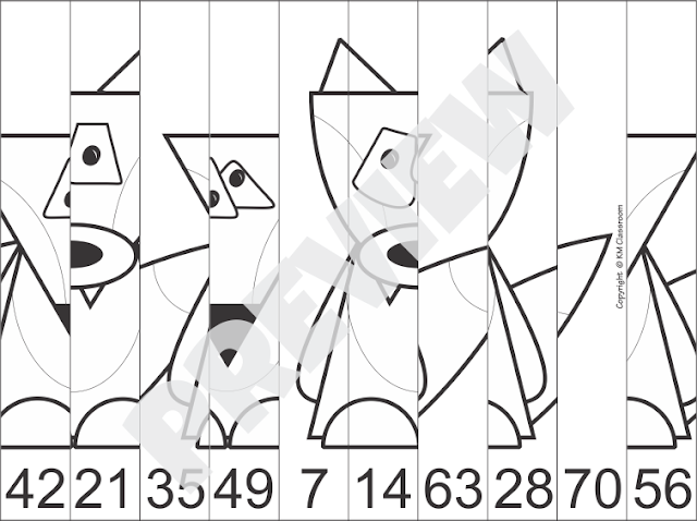 Skip Counting Picture Puzzle