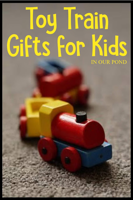 Train Gifts for Kids from In Our Pond // a gift guide // train toys and more