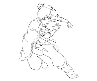 #4 Korra Coloring Page
