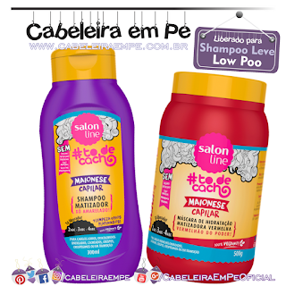 Shampoo Maionese Matizadora e Maionese Matizadora Vermelha Tô de Cacho - Salon Line (Low Poo)