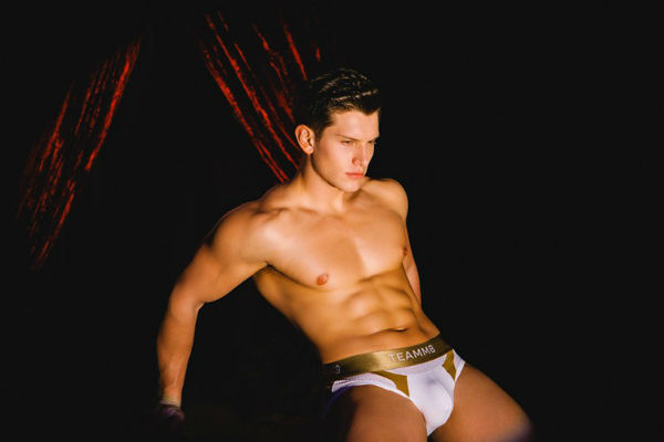 Josh Ivory Wears Aerial Brief Teamm8