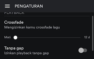 spotify crossfade turnoff