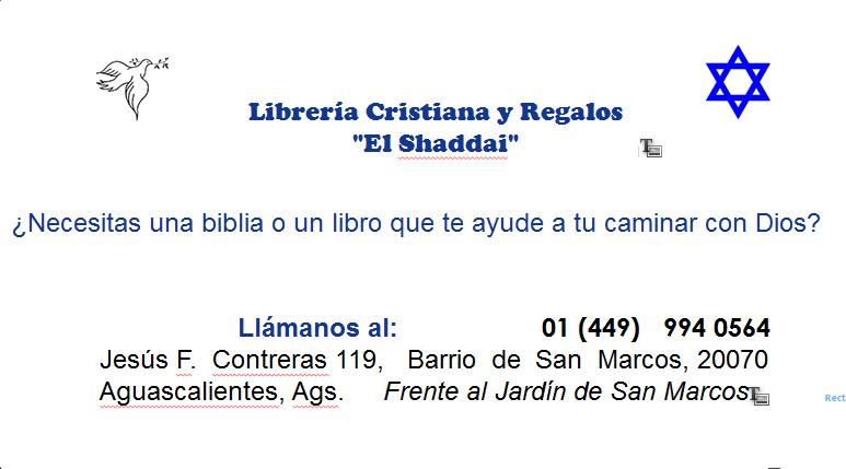 LIBRERIA CRISTIANA Y REGALOS EL SHADDAI EN AGUASCALIENTES