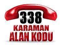 0338 Karaman telefon alan kodu