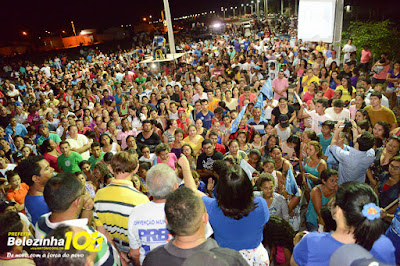 É 10!!! Belezinha promove mega arrastão e leva multidão a reunião no Residencial José de Sousa Almeida(Mil Casas)