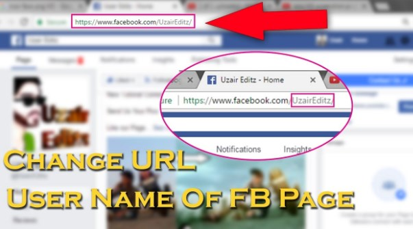 change my name on facebook page