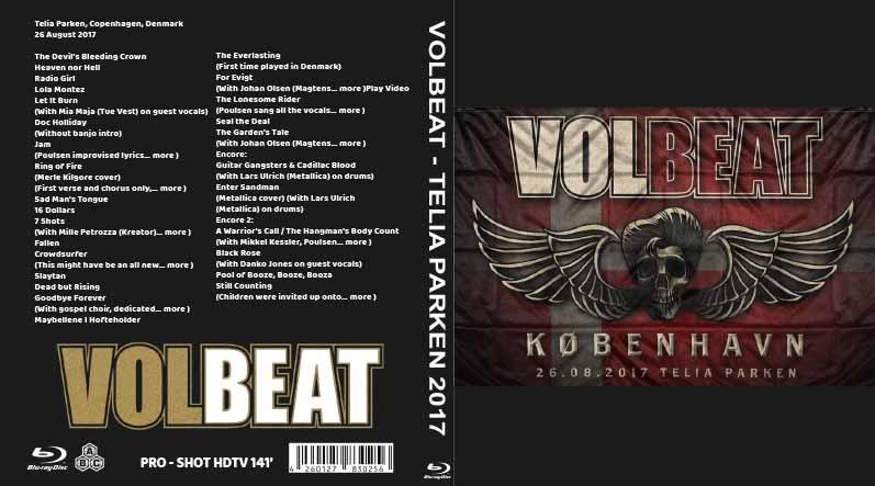 BLURAY LIVE CONCERT: VOLBEAT - TELIA PARKEN 2017