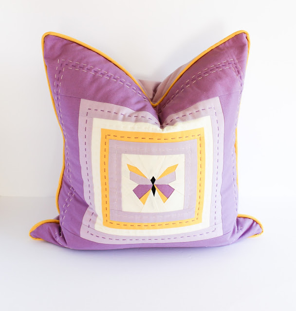 Hand Quilted Butterfly Pillow Shannon Fraser Designs