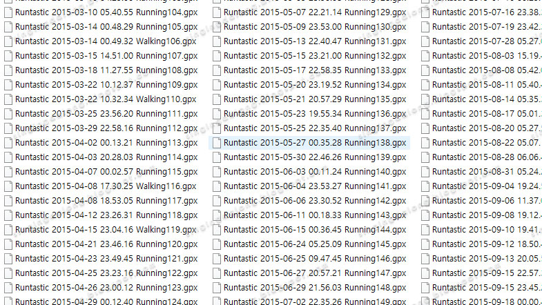 Export Runtastic activity to tcx, gpx files