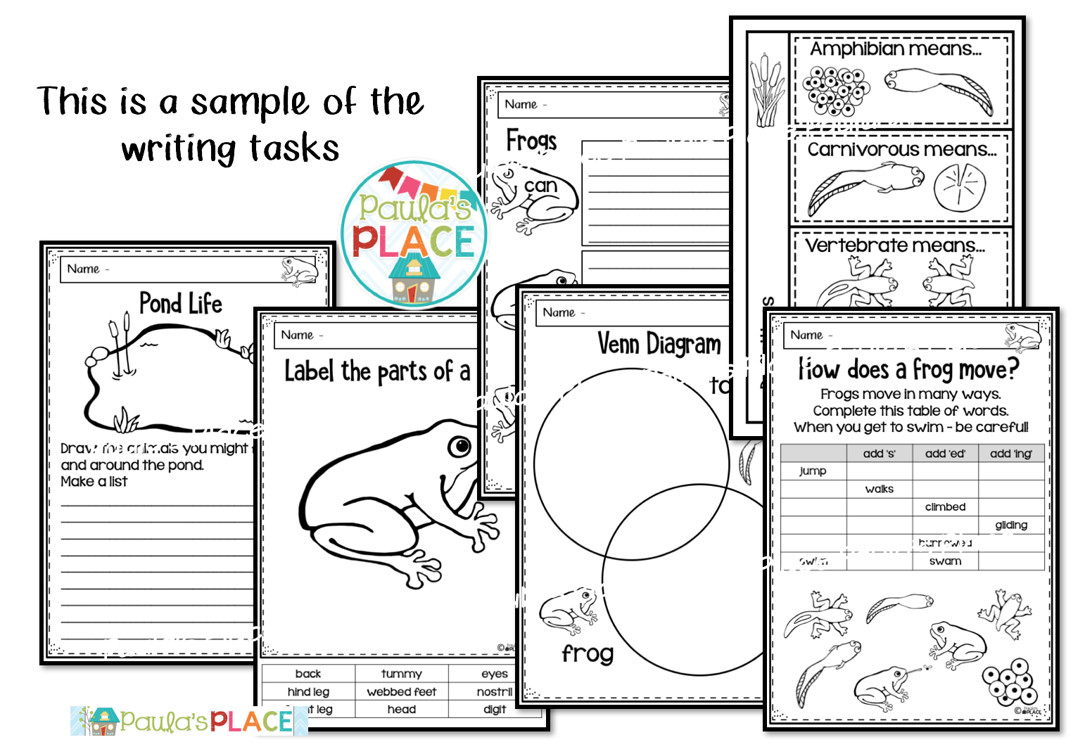 Paula's Place: Frogs and Ladybugs