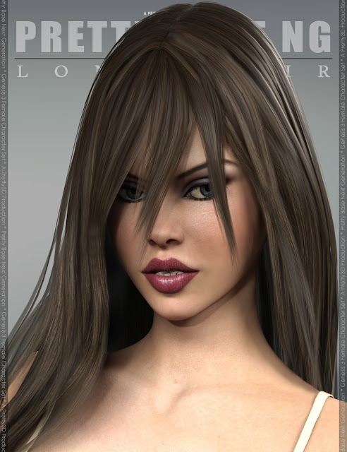 Pretty Base NG Long Hair for Genesis 3 Female