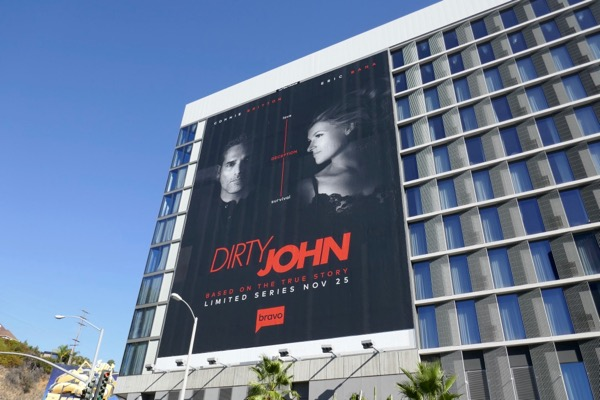 Dirty John series launch billboard