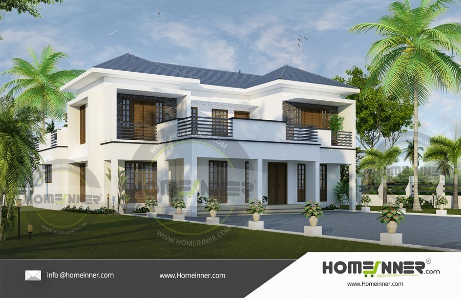 4bhk Modern Luxury House Plan
