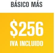 paquete dish básico más en 256 pesos al mes