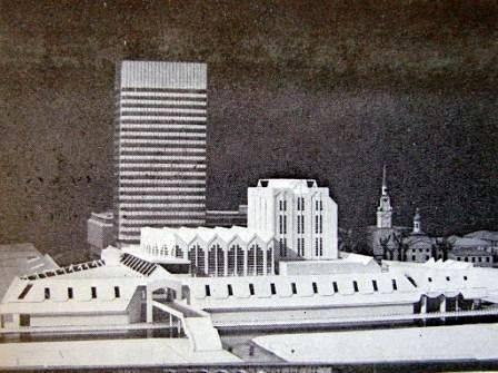 """Один из множества вариантов концертного зала на Цитадели возле здания """"Агромпрома"""" (Maksla, 1988)."""