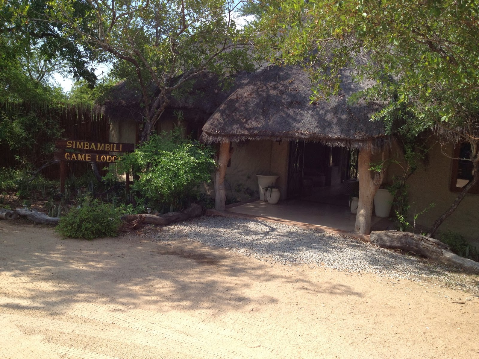 Sabi Sands - The front entrance of the Simbambili Game Lodge