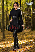 Palton dama negru cu gluga (Escape)