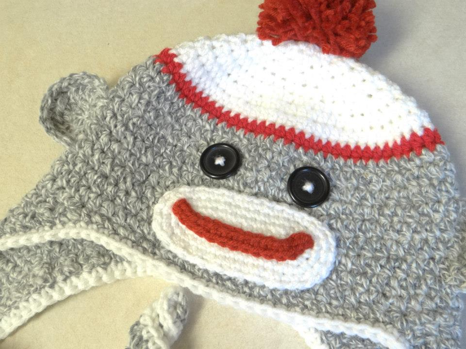 3e2a6c02dccaa You ll get the cute grey with red Sock Monkey Hat in a Size 2-5 years (it  will fit any child who wears ...