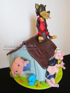 bolo 3 porquinhos doces opções