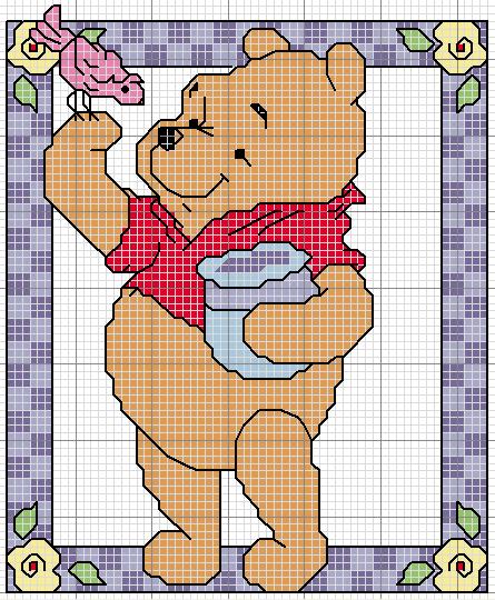 Punto croce for Winnie the pooh punto croce schemi