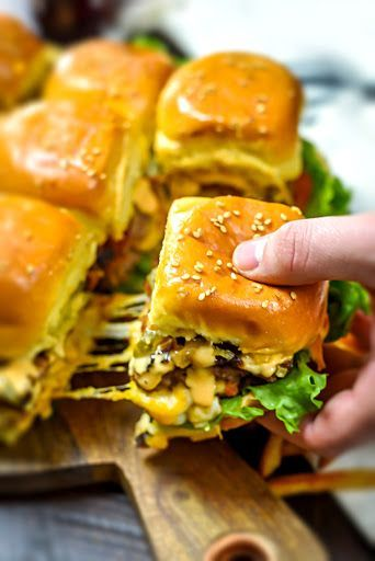Loaded Juicy Lucy Sheet Pan Sliders #loaded #juicy #lucy #sheetpan #sliders #tasty #tastyrecipes #delicious #deliciousrecipes