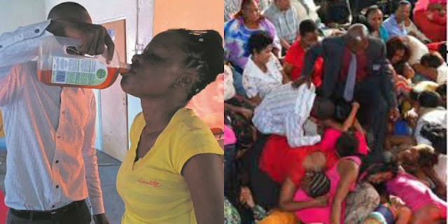 Strange Times Indeed:-For healing, pastor gives member Dettol to drink