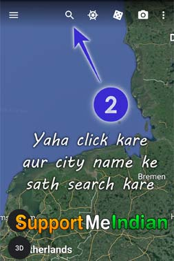 search your city in google earth