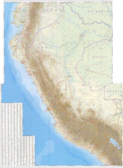 Carte routière du Pérou