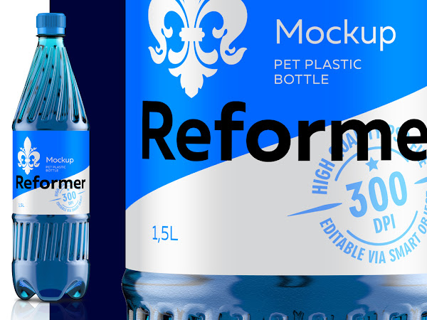 Download Mockup Package PET PLASTIC BOTTLE Free