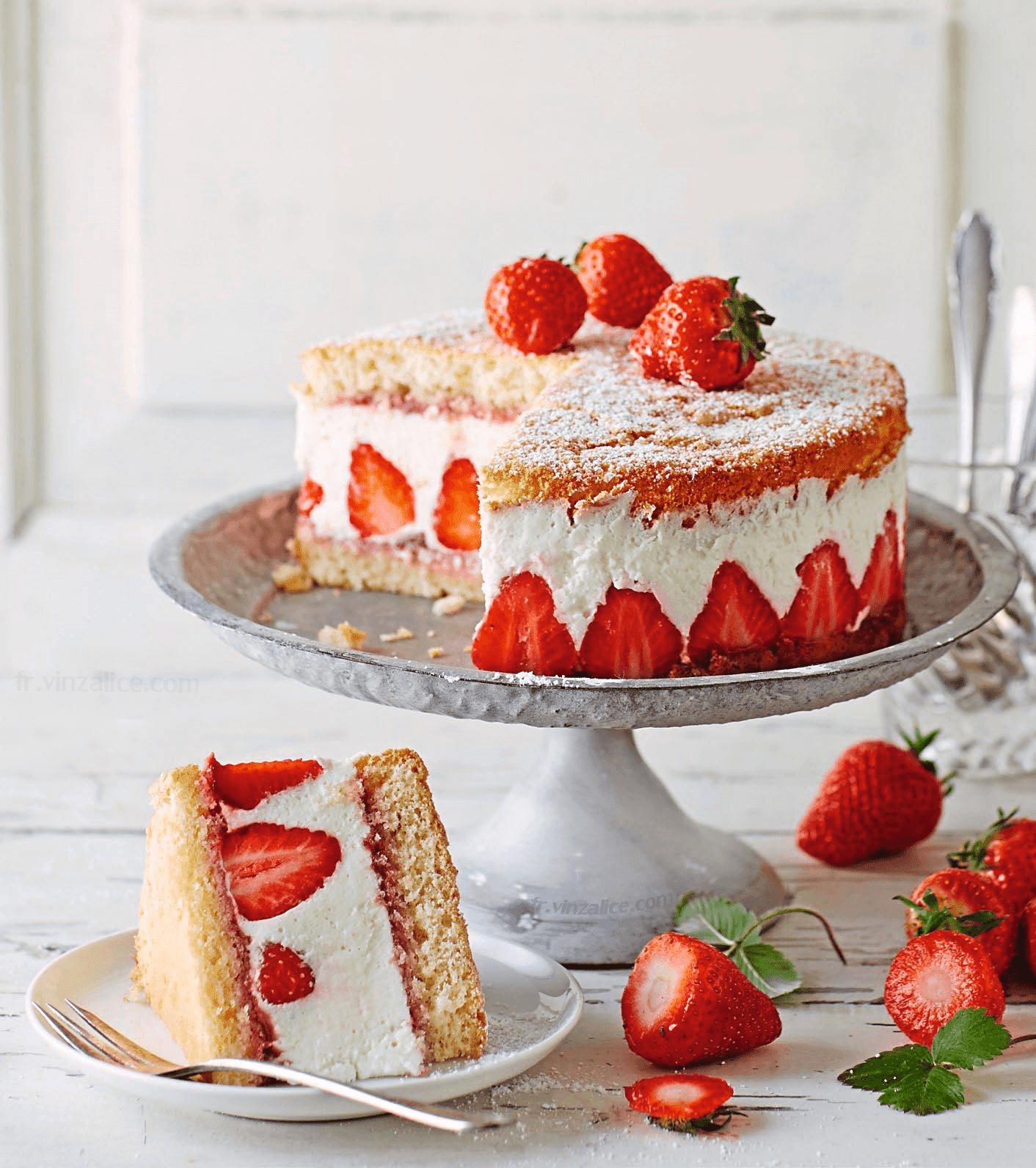 Recette cheesecake fraise-coco facile