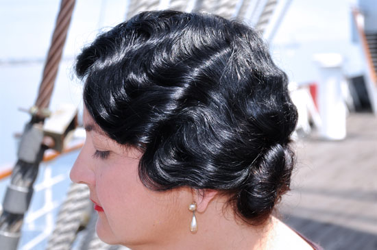 vintage Queen Mary Art Deco Fest finger waves by Lady by Choice