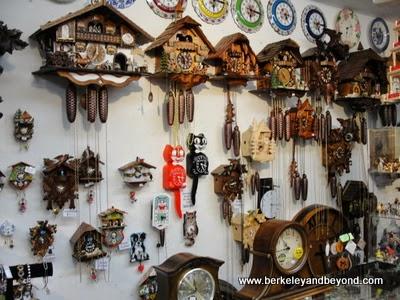 cuckoo clocks at Hanson's Clock Shop in Solvang, CA