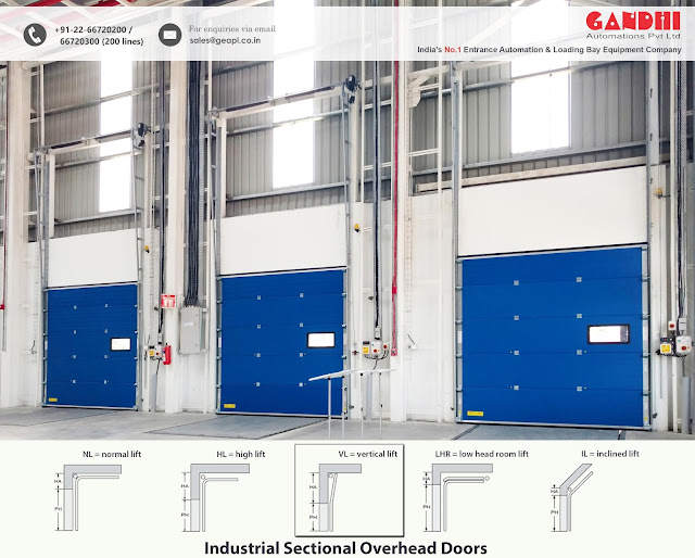 sectional overhead doors, dock levelers, sectional doors, dock shelters