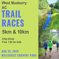 Trail races in Millstreet Country Park - Sun 25th Aug 2019