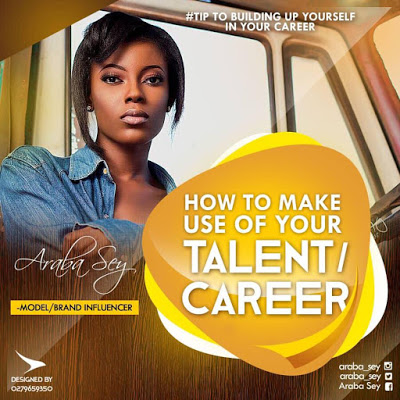 Araba Sey Writes: How To Make Use Of Your Talent & Career