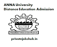 ANNA University Distance Education Admission