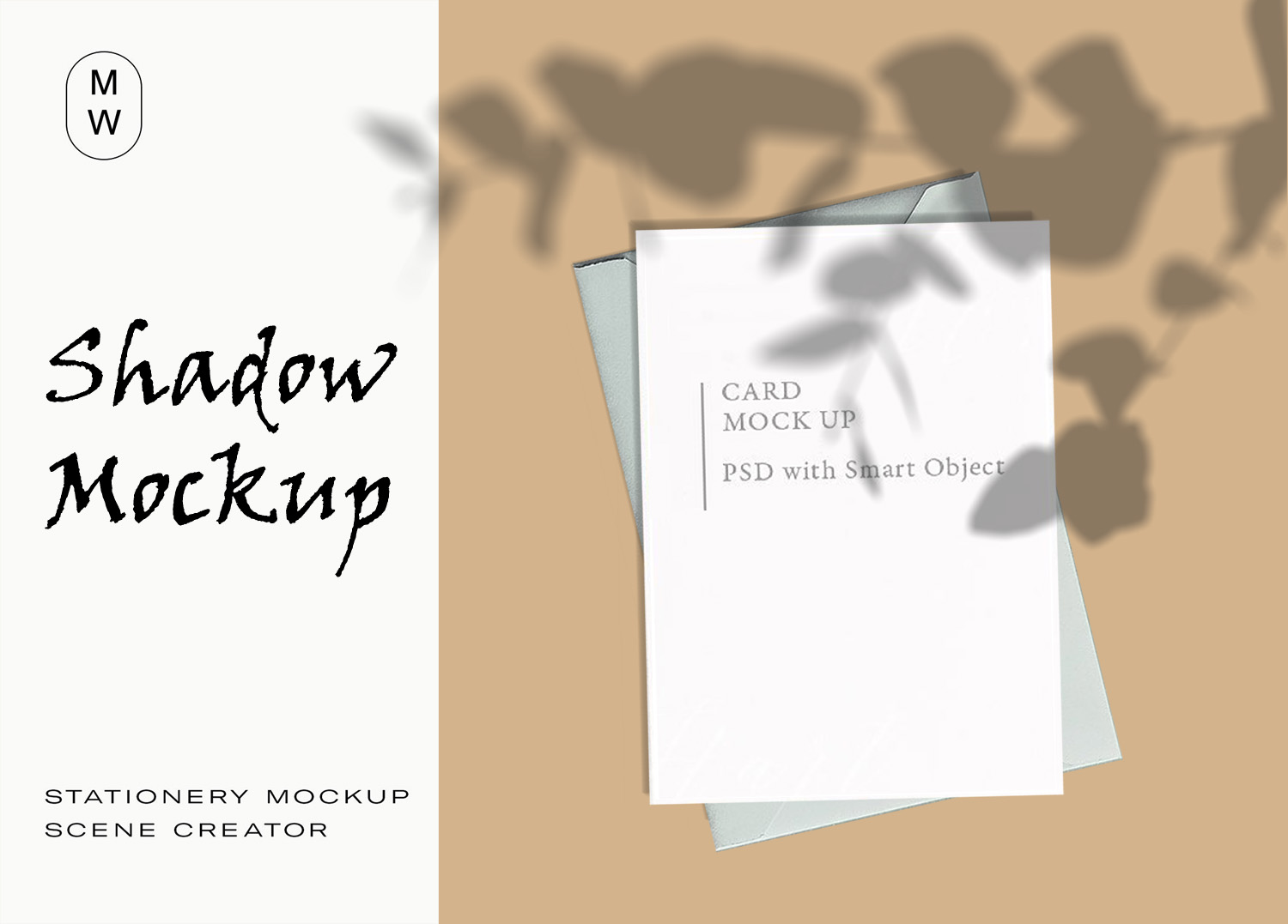 Stationery Card Envelope Shadow Mockup