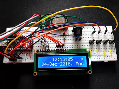 Arduino alarm clock with DS1302 RTC module