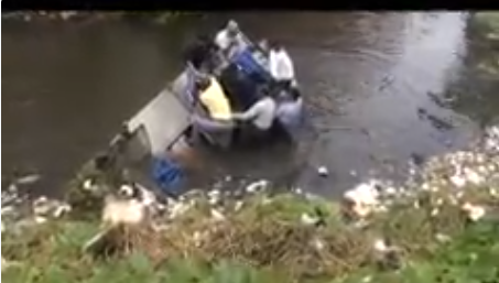 A PR stunt went horribly wrong, when  Panaji Mayor Surendra Furtado fell into water at Campal creek on Sunday.   Surendra Furtado was riding a boat, which had been fitted with a weed-removal mechanism, to showcase the new acquisition.