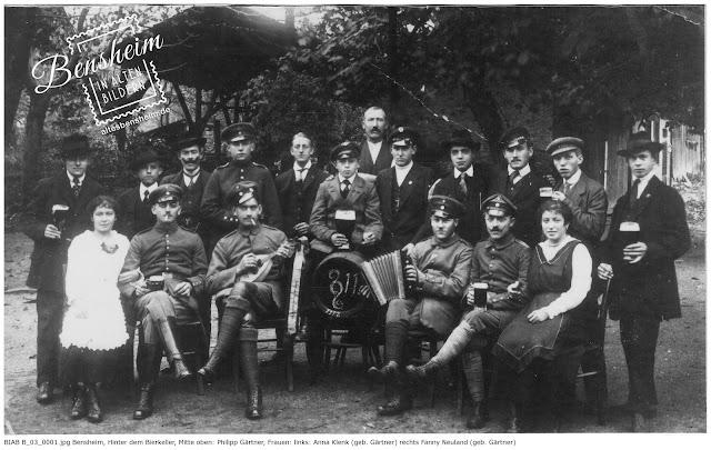 BIAB B_03_0001.jpg - Hinter dem Bierkeller 1917, zur Verfügung gestellt von Frau Rina Sauer