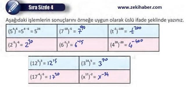 8. Sınıf MEB Yayınları Matematik 28. Sayfa Cevapları 1. Ünite