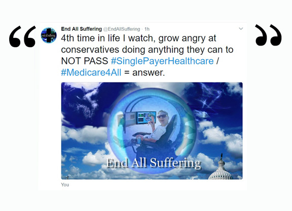 End All Suffering on Twitter: Single payer