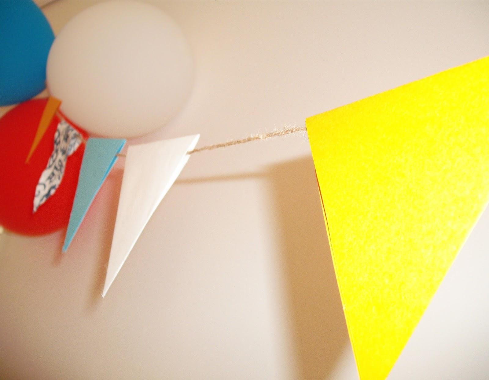 Μπαλόνια και σημαιάκια στολισμός πάρτυ