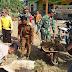 Karya  Bakti TNI AD Adakan  Giat  Gotong Royong  Tempat  Ibadah