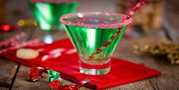 Cocktail Vert De Noël Au Gin