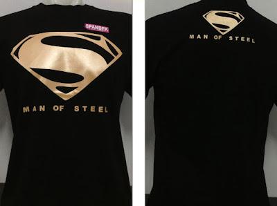 Kaos Superhero Superman Logo Gold