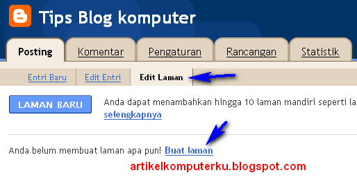 menu tab blogger