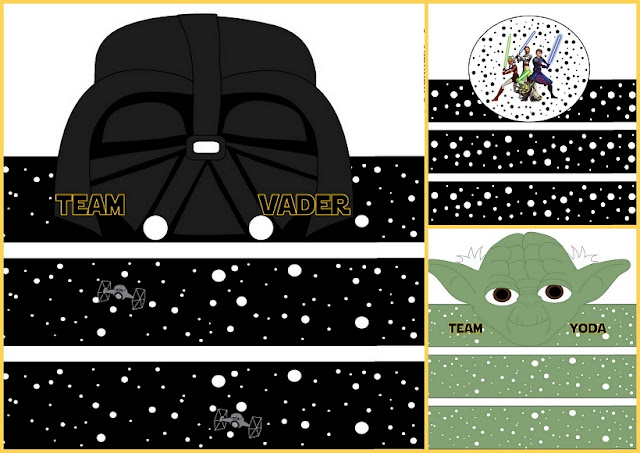 Star Wars: Free Printable Party Hats.