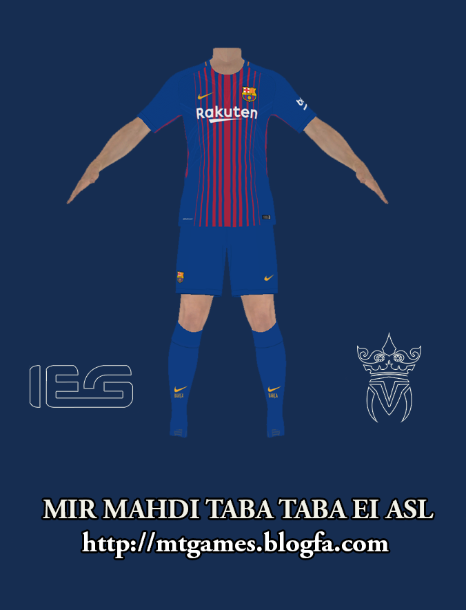 1ac80e46d İndir (1860x1860) · PES 2017 Barcelona 2017-18 Home Kit By MT GAMES 1991 -  PES Patch