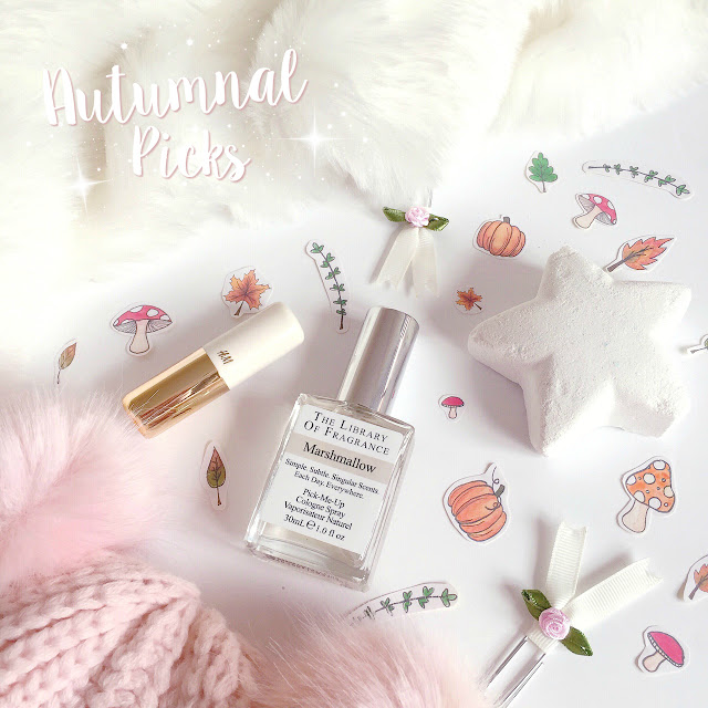 Autumnal Picks | Lush Star Dust, The Library Of Fragrance Marshsmallow, H&M Powder Puff Lipstick